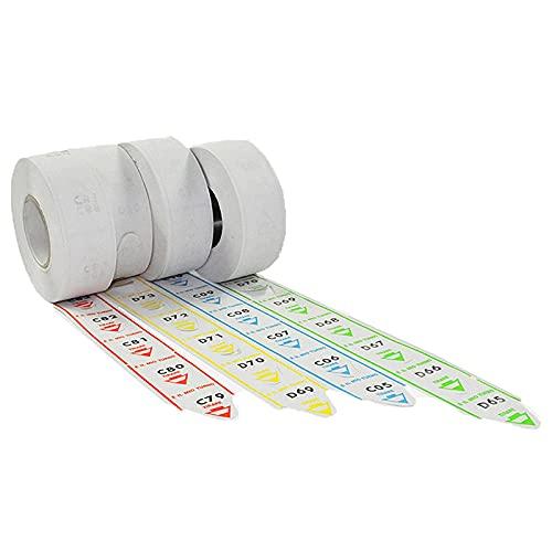 5 rotoli da 2000 tickets per eliminacode - coda di rondine - alfa numerate VERDE