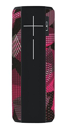 Ultimate Ears Megaboom Tragbarer Bluetooth-Lautsprecher, Satter Tiefer Bass, Wasserdicht, App-Navigation, Kann mit weiteren Lautsprechern verbunden werden, 20-Stunden Akkulaufzeit - schwarz/magenta