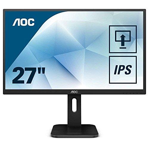AOC Pro-Line Q27P1 Pantalla para PC 68,6 cm (27') Wide Quad HD LED Plana Mate Negro - Monitor (68,6 cm (27'), 2560 x 1440 Pixeles, Wide Quad HD, LED, 5 ms, Negro)
