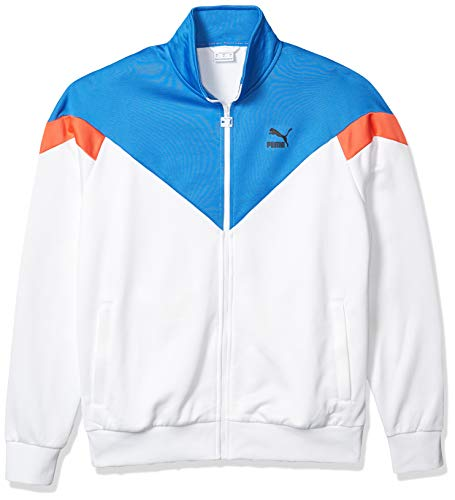PUMA Men's Iconic MCS Track Jacket, White, XX-Large