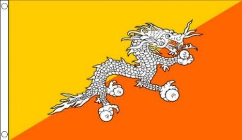 5 ft x 3 ft 150 x 90 cm) Bhoutan Bhutanese 100% Polyester-matière Drapeau Banniere idéale pour Festival bar Club l'activité Décoration de Fête