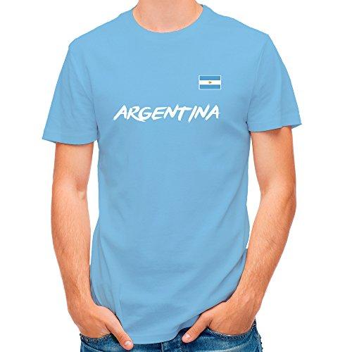 LolaPix Camiseta seleccion de Futbol Personalizada con Nombre y número. Camiseta de algodón para Hombre. Elige tu seleccion. Argentina