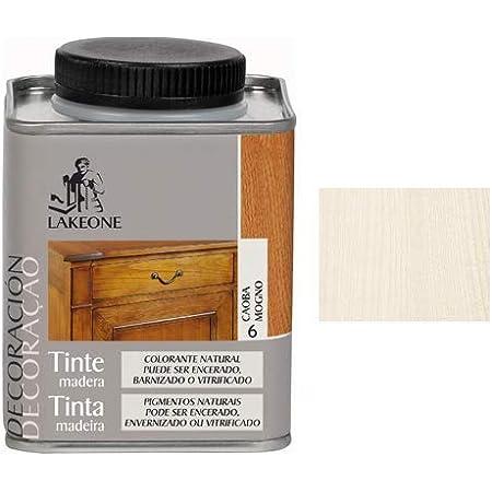 Lakeone LA50101/250M/15 Tinte para La Madera, Blanco, 225 ml ...