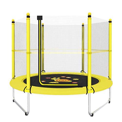 ZAQ Gele Trampoline met Behuizing, Jongens en Meisjes Spelen Sport Spelletjes Fitness Springen Mat, 250kg, 150cm/59 inch