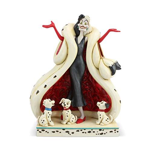 Enesco Disney Traditions by Jim Shore 101 Dalmatians Cruella de Vil with Puppies Figurine, 8.2 Inch, Multicolor