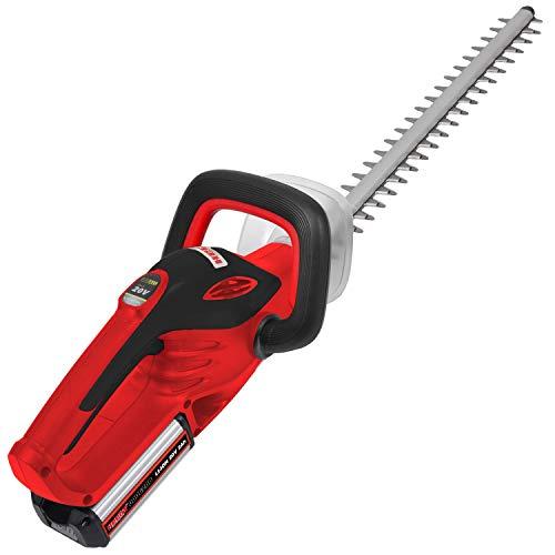 HECHT Akku-Heckenschere 6020 Strauch-Schere (20 V (DC) Li-Ion (nicht im Lieferumfang), 45 cm Schwertlänge und 15 mm Schnittstärke)