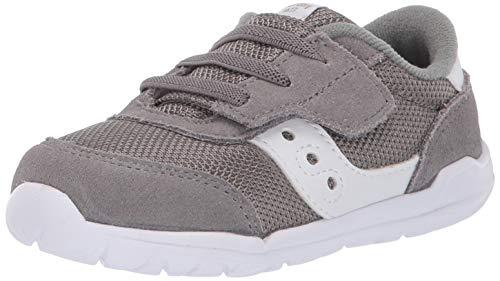 Saucony boys Jazz Riff Sneaker, Grey/White, 11.5 Little Kid US