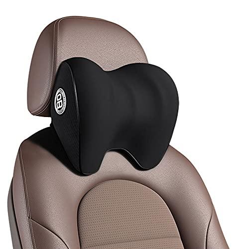 Dollox Car Headrest Pillow, Neck Support Pillow for Car Seat Soft Memory Foam Neck Rest Pillow Cushion for Neck Pain Relief Ergonomic Design Travel Pillow Cervical Support for Car Seat and Office