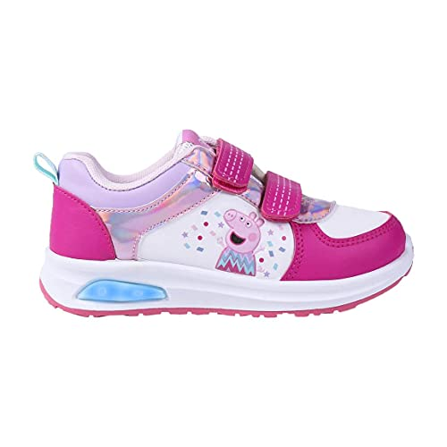 CERDÁ LIFE'S LITTLE MOMENTS, Zapatillas con Luces Niña de Peppa Pig-Licencia Oficial Nickelodeon Niñas, Rosa, 26 EU