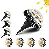 Tooltoo Solarleuchte Garten, [8er Pack] IP67 Wasserdichte LED-Solarleuchten Dekoration für Boden, Büsche, Gartenweg, Rasen, Innenhof (Warmweiß-3500K)