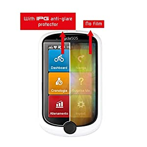 IPG Compatible with Anti - Glare - MIO - Magellan Cyclo 505 HC (2X) Cycling GPS Invisible Film Screen Protector Guard Cover Free Lifetime Replacement Warranty Bubble -Free