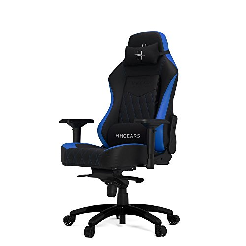 HHGears XL 800 PC Gaming Racing Chair with Headrest, Blue/Black Chairs Computer Dining Features Gaming Home Kitchen