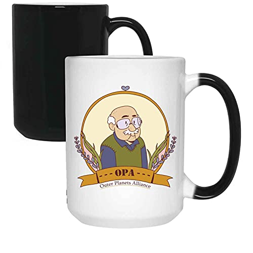 The Expanse Outer Planet Alliance Coffee Coworker Office Birthday Present For Birthday, Anniversary, Ascension Day 15 Oz Changing Mug