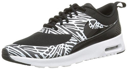 Nike Women's Air Max Thea Print Trainers, Black (Black/Black-White-Mtllc Silver), 3.5 UK