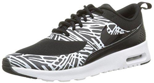 Nike Damen WMNS AIR MAX THEA Print Sneaker, Schwarz (010 BLACK-WHITE-MTLLC SILVER), 40 EU
