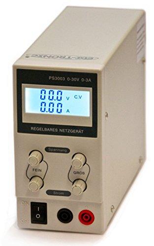 edi-tronic Regelbares DC Labornetzgerät 0-30V 0-3A PS3003 Labornetzteil Netzgerät regelbar Netzteil