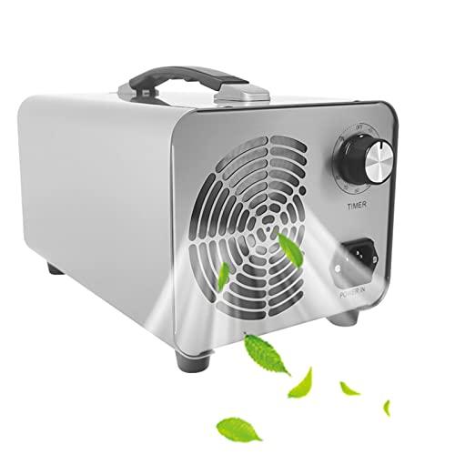 RDJSHOP Generador de Ozono Industrial Purificador Ozono de Aire con Temporizador Ozonizador Elimina Olores para Oficina, Garaje, Automóviles, Habitación, Humo y Mascotas,White-30000mg/h