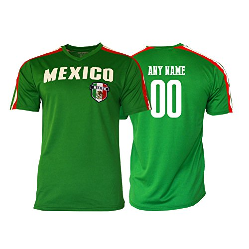 Pana Mexico Soccer Jersey Flag Mexican Adult Training Custom Name and Number (YM, Custom Name ADDS)