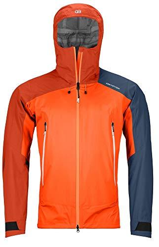ORTOVOX Herren Westalpen 3L Light Jacket M Weste, Orange (Burning Orange), XL