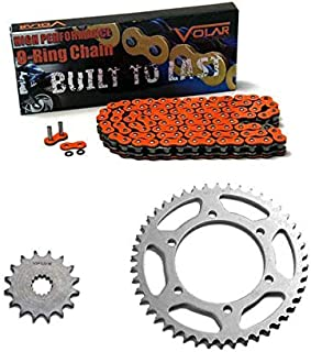 Volar O-Ring Chain and Sprocket Kit - Orange for 2005-2016 KTM 250 SX
