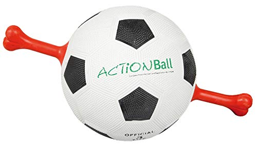 Karlie Action Ball met massief rubberen xiggrepen ø 19cm