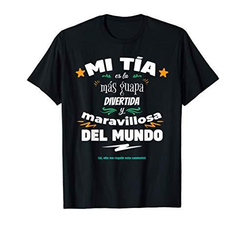 Tía Guapa Divertida y Maravillosa Para Sobrinos y Sobrinas Camiseta