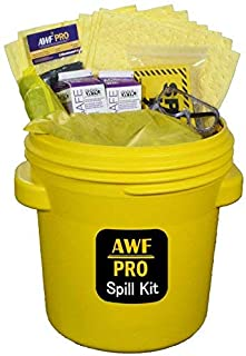 20 Gallon Battery Acid Spill Kit Includes DOT Overpack Drum, Acid Neutralizer, 40 Pads 15x19, 3 Socks 3x4, 3 Pillows 18x18, Chemical Gloves, 5 Hazmat Bags, Safety Goggles, Guide Book, Spill Kit Sign