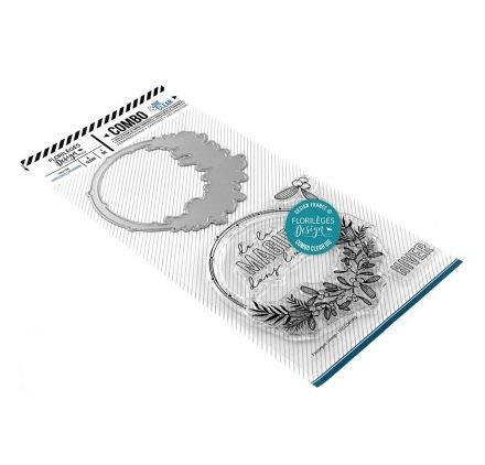 Florilèges Design Tampons Clear, Polymère, Transparent et Couleur métal, 15,5 x 25 cm