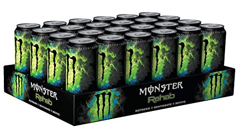24 Dosen a 0,5L Monster Rehab Greentea Green Tea Drink inc. 6.00€ EINWEG Pfand grün