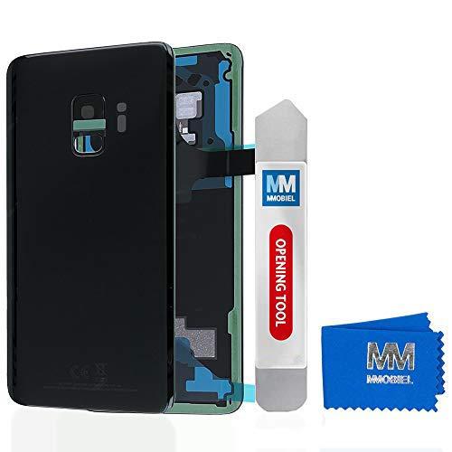 MMOBIEL Tapa Bateria/Carcasa Trasera con Lente de Cámara Compatible con Samsung S9 G960 5.8 Pulg. (Negro Medianoche)