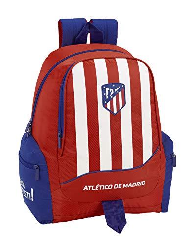 Club Atlético de Madrid Atlético de Madrid Mochila Grande Adaptable a Carro, niño Equipaje para niños, Roja, 43 cm