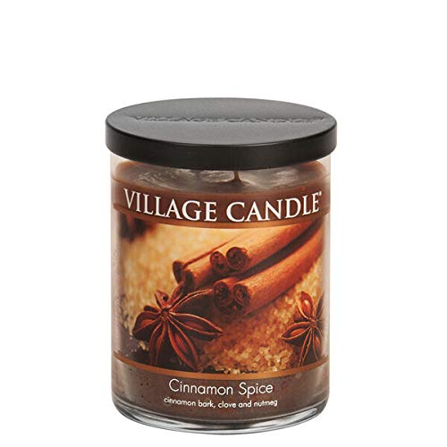 Village Candle Cinnamon Spice, Medium Bowl Scented Candle, 14 oz, Brown