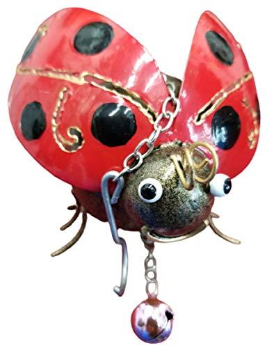 SK Garden Home Metal Hanging Ornament With Bell - Ladybird