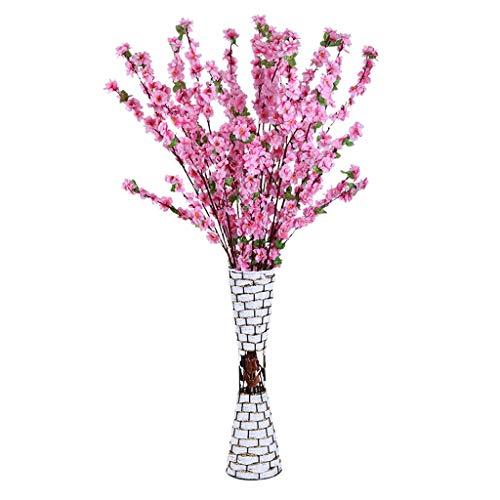 Nep bloem TXC Kunstmatige Perzik Bloesem Tak Woonkamer Plum Boom Tak Plant Kunststof Gedroogde Bloem Decoratie Heldere kleuren