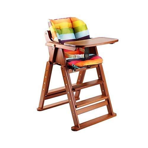 YDHYYDQCFJL Baby Hoge Stoel - Baby Eetstoel Houten Baby Kinderstoel Verstelbare Opvouwbare Feeding Stoel Met Kussen
