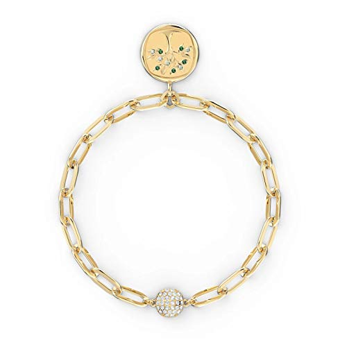 Swarovski The Elements Tree 5572654 - Pulsera chapada en Oro (17,3 x 2 x 1,6 cm), Color Verde
