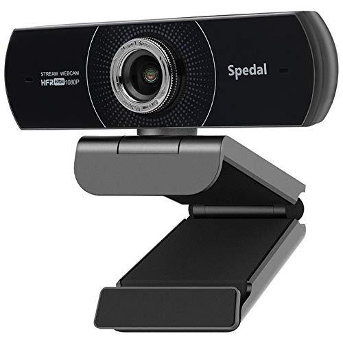 Spedal HD Webcam 1080P 60fps, PC Streamcam mit Mikrofon Twitch Webcam OBS Manueller Fokus USB Webcam Skype Facebook Kompatibel für Mac Windows