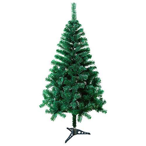 VINGO Künstlicher Weihnachtsbaum 120cm ca. 200 Grün Weihnachtsdeko schwer entflammbar Tannenbaum,inkl. Plastikständer für den Weihnachtsdekoration