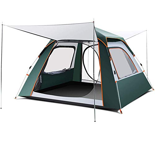 COOLLL Utility Tent,Up Camping Tents, 4 Person Camping Tunnel Tent with Side Entrance Living Area UV 50+ Protection Waterproof 3000 Mm