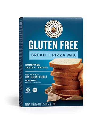 King Arthur, Gluten-Free Bread and Pizza Mix, Gluten-Free, Non-GMO Project Verified, Certified Kosher, 18.25 Ounces