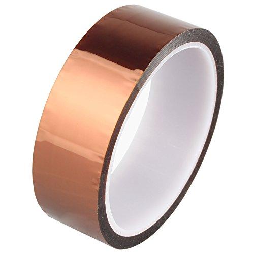 HALJIA 30mmx33m/100 ft alta temperatura de calor de poliimida dorado cinta para impresora 3d plataforma/eléctrico soldadura tarea/aislante placas de circuito Temperatura Resistente hasta 280