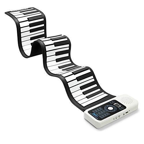 Lujex Keyboard Klavier Faltbare 61 Tasten, Keyboard Klavier Kinder Lernen 61 / 88 Tasten Flexible Soft Electronic Digital Midi Roll up Keyboard Piano (61)