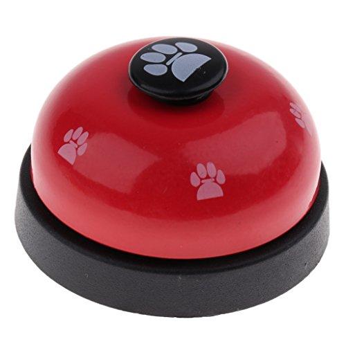non-brand Trainingsglocke für Hunde/Katzen, Hunde Tischglocke für Kommunikationstraining und Töpfchen Training, 7.2x5 cm - Rot