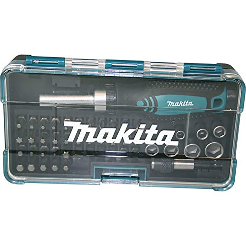 MAKITA B-36170 B-36170-Set Puntas+Atornillador carraca (47 pcs), 0 W, 0 V, Negro