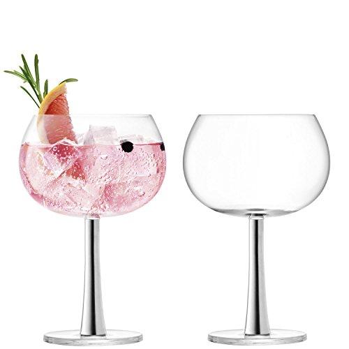 Verre ballon à gin, Platine Verre, platine, 2 x 420 ml