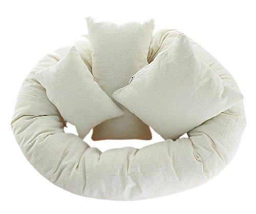 DATO Neugeborenen Fotografie Korb Füller 4pcs Weizen Donut posiert Requisiten Baby Kissen 0-6monate
