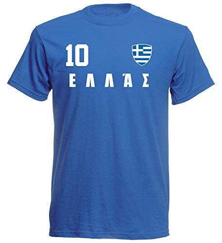 Camiseta para niños de la selección griega de la selección alemana de fútbol azul 116 cm