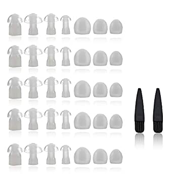 Hearing Aid Domes - Universal Domes for Hearing Aids - Sizes Small Medium Large & X-Large Earbud Replacements and BTE Hearing Sound Amplifiers
