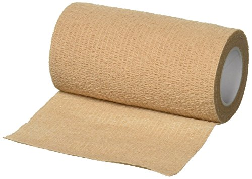 "Ever Ready First Aid Self Adherent Cohesive Bandages 4"" x 5 Yards - 18 Count, Tan"