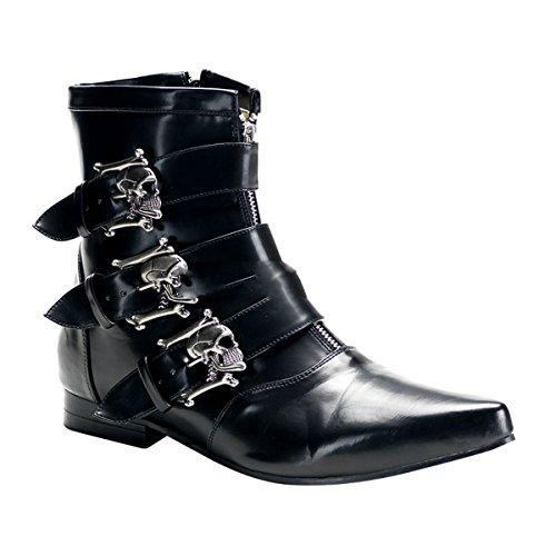 Demonia Brogue-06 - Gothic Punk Industrial Pikes Stiefeletten Schuhe 40-46, Größe:EU-41/42 (US-M9)